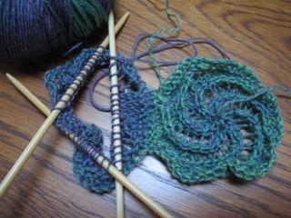 swirl scarf start