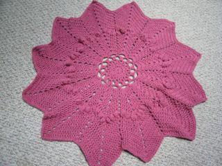 Crochet baby blanket roses 003