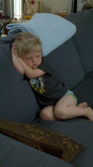 Sleepy dancer boy