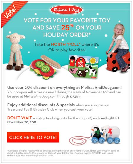 Melissa and doug poll
