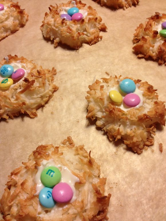 Coconut Macaroon Birds Nests for Easter