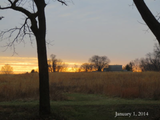 January first sunset 2014