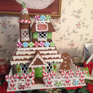 foam gingerbread house