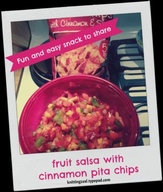 Fruit salsa snapshot