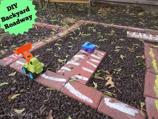 DIY backyard roadway