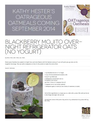 Blackberry Mojito Overnight