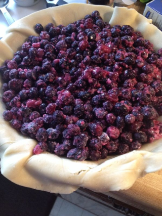 Winter blues-berry pie