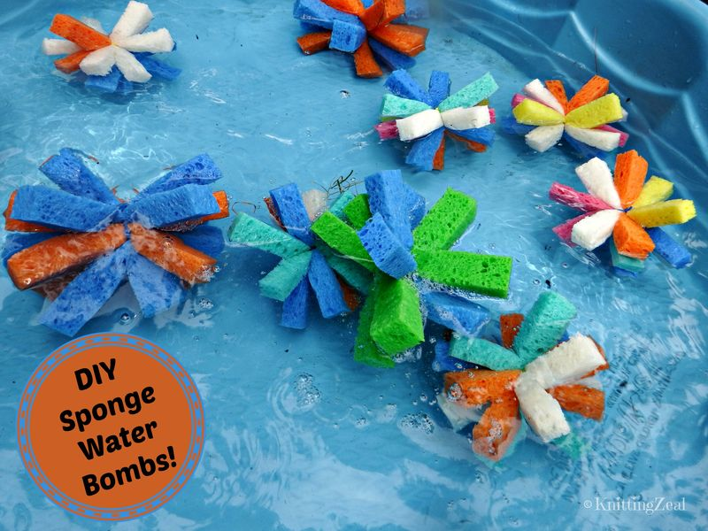 DIY sponge water bombs