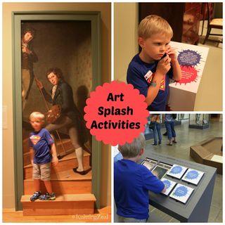 Art Splash activity Collage 1